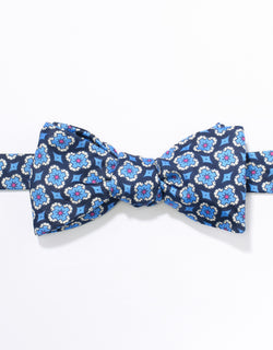 J. PRESS FOULARD BOWTIE - NAVY