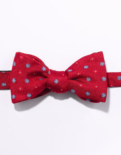 J. PRESS NEAT ON PINCHECK BOWTIE - RED