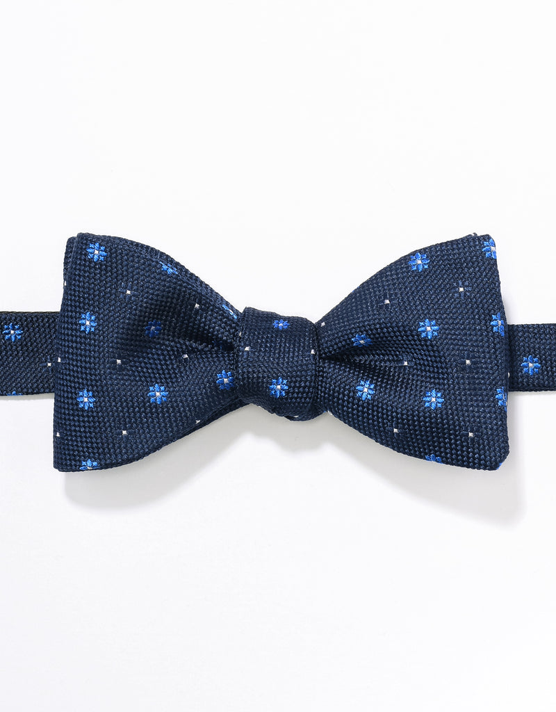 J. PRESS NEAT ON PINCHECK BOWTIE - NAVY