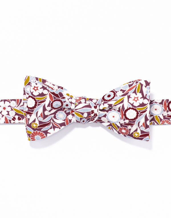 J. PRESS LIBERTY PRINT BOWTIE - BURGUNDY