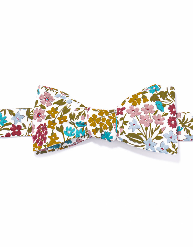 J. PRESS LIBERTY PRINT BOWTIE - WHITE