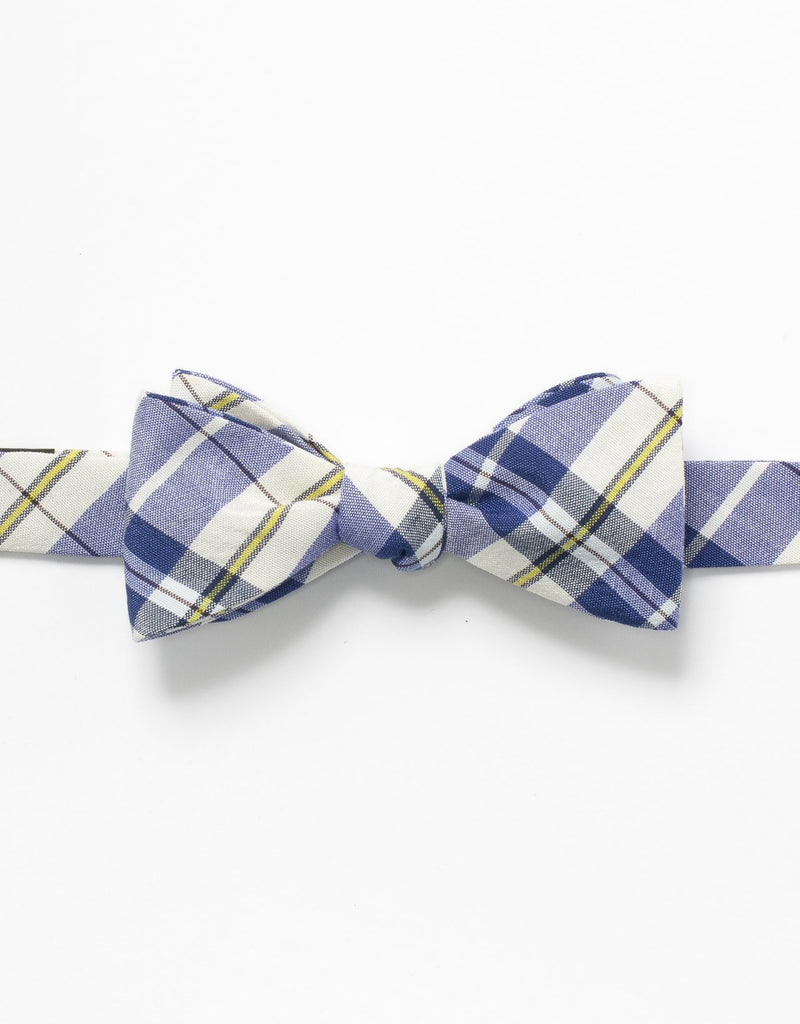 MADRAS BOW TIE -BLUE/WHITE/YELLOW - J. PRESS