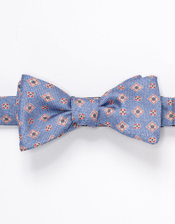 LINEN FOULARD BOWTIE - LIGHT BLUE