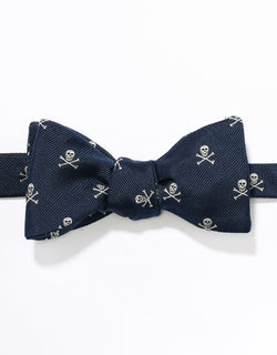 J. PRESS EMBLEMATIC SKULL AND BONE BOWTIE - NAVY