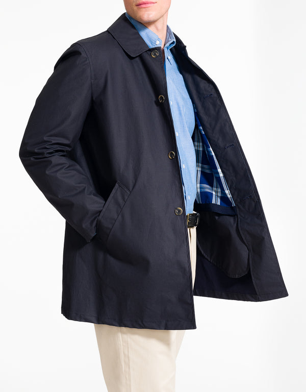 J. PRESS NAVY CAR COAT