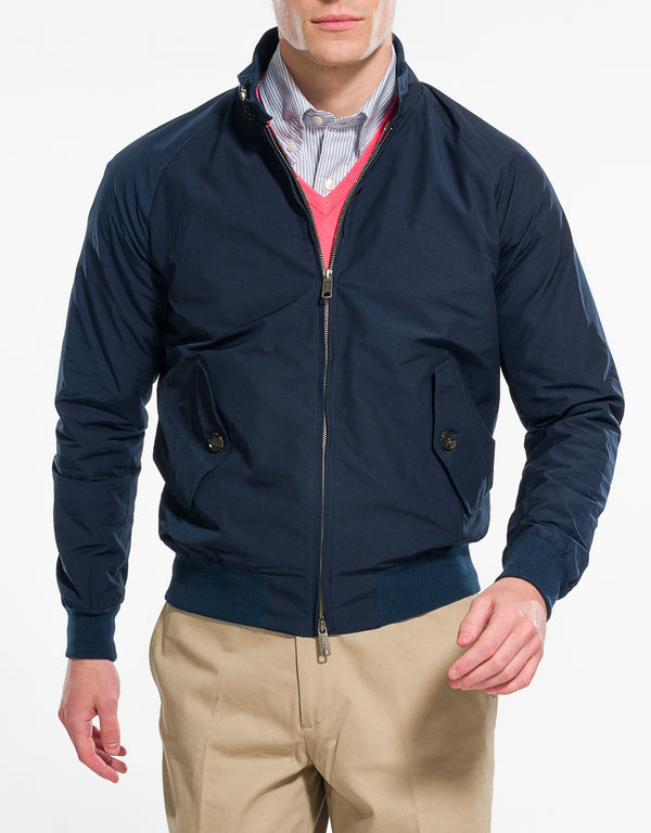 BARACUTA G9 HARRINGTON JACKET - NAVY