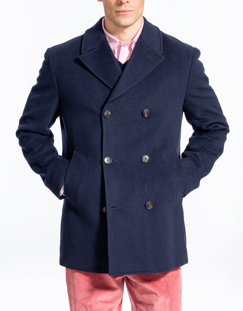 NAVY DOWN FILLED PEACOAT