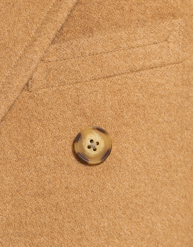 CAMEL DOUBLE BREASTED  POLO COAT