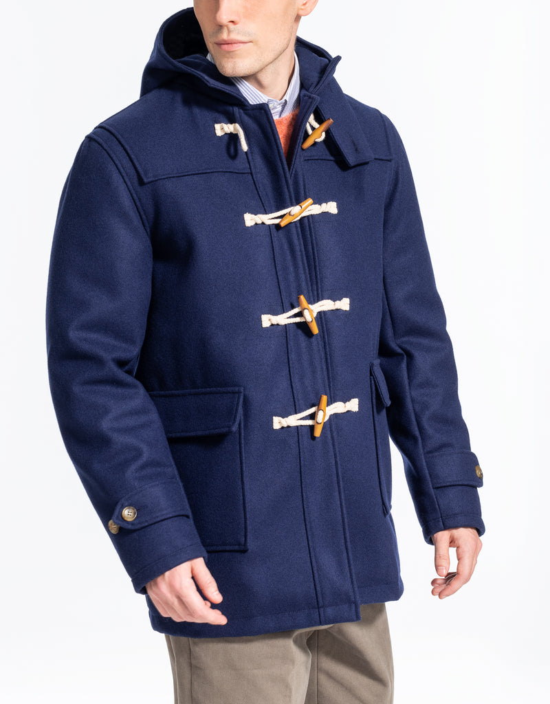 BLUE MELTON TOBOGGAN JACKET