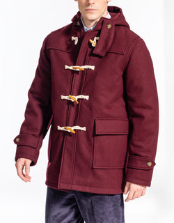 BURGUNDY MELTON TOBOGGAN JACKET
