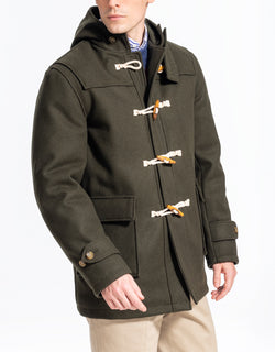 GREEN MELTON TOBOGGAN JACKET