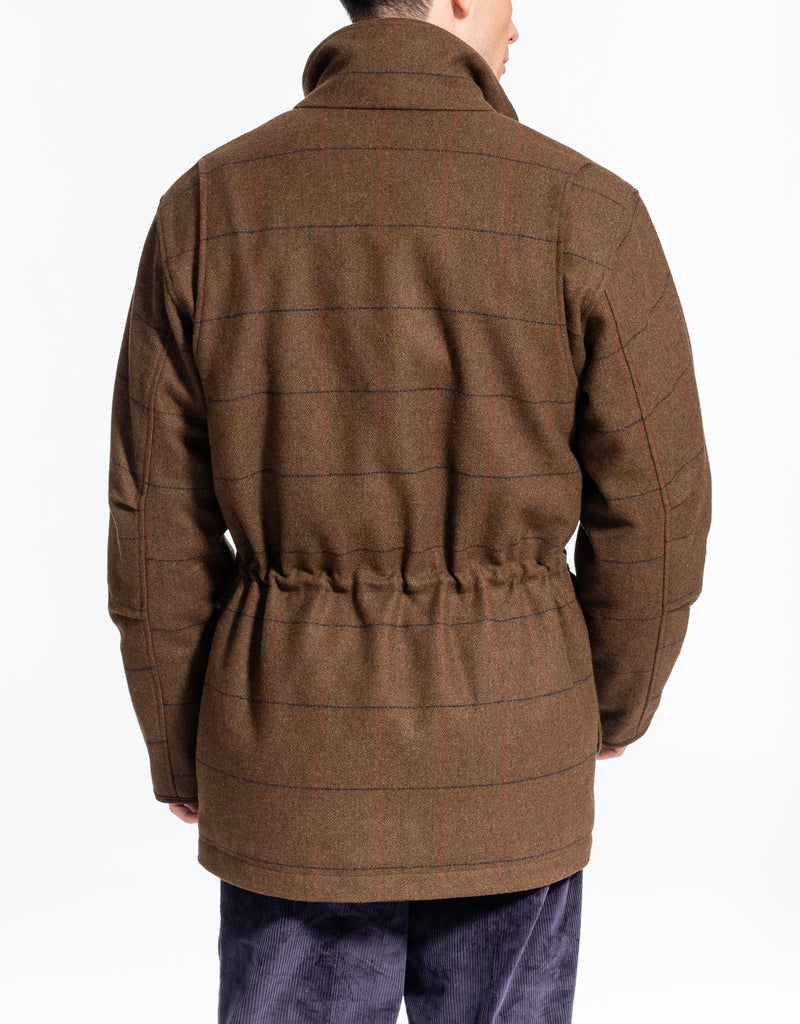BROWN OLIVE TATTERSALL HUNTING JACKET