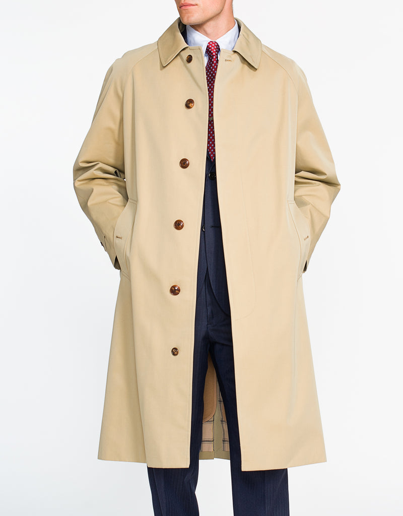 J. PRESS X GRENFELL TAN COTTON RAINCOAT