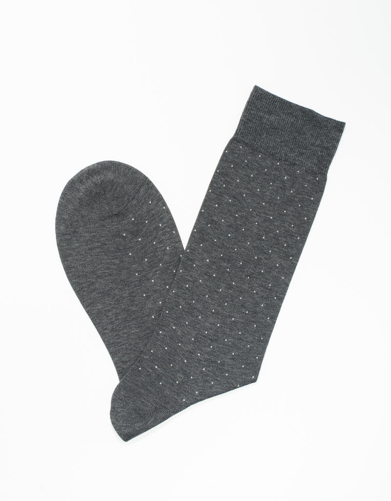 GREY COTTON DOTS SOCKS