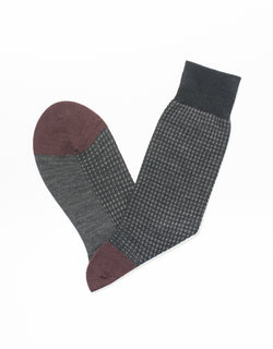 BLACK HOUNDSCHECK SOCKS