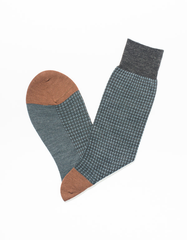 CHARCOAL HOUNDSCHECK SOCKS