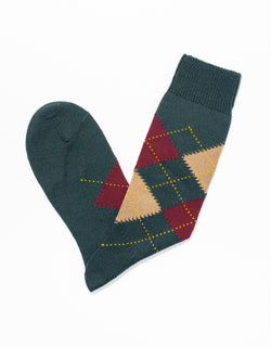 ARGYLE SOCKS - GREEN