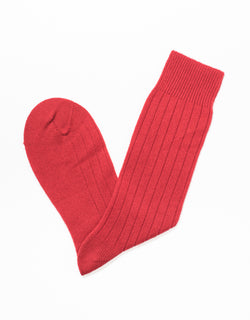 RED CASHMERE SOLID SOCKS
