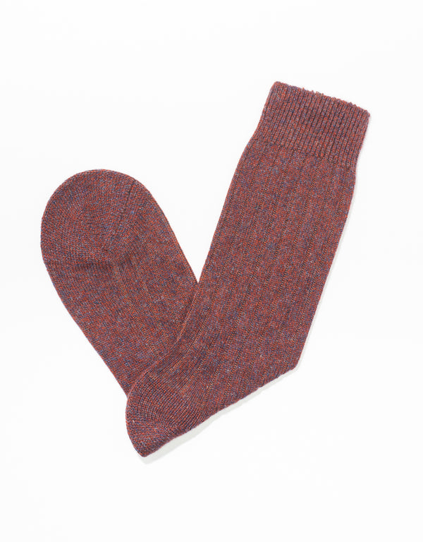RUST CASHMERE SOLID SOCKS