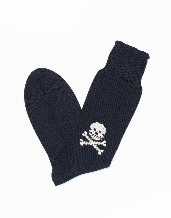 NAVY JOLLY ROGER SOCKS