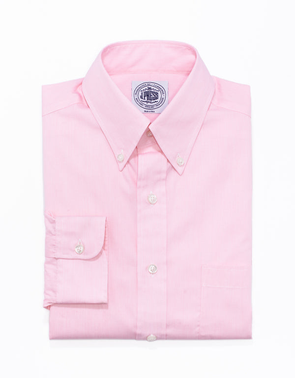 PINK HAIRLINE STRIPE BROADCLOTH DRESS SHIRT
