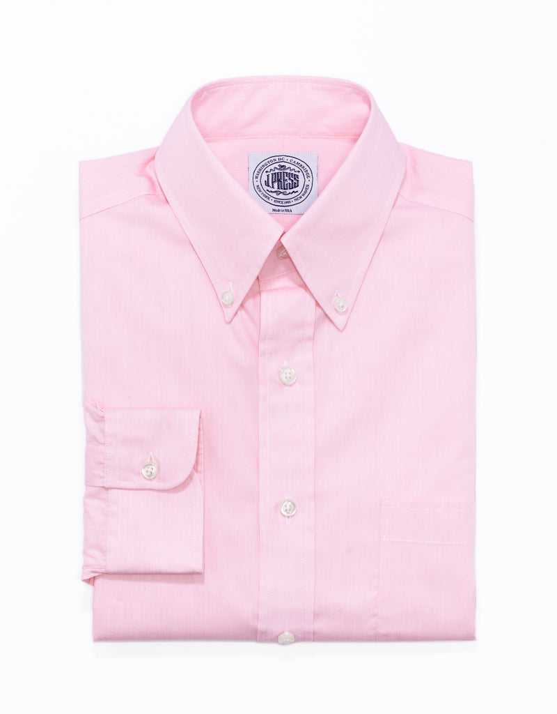 PINK HAIRLINE STRIPE BUTTON DOWN SHIRT
