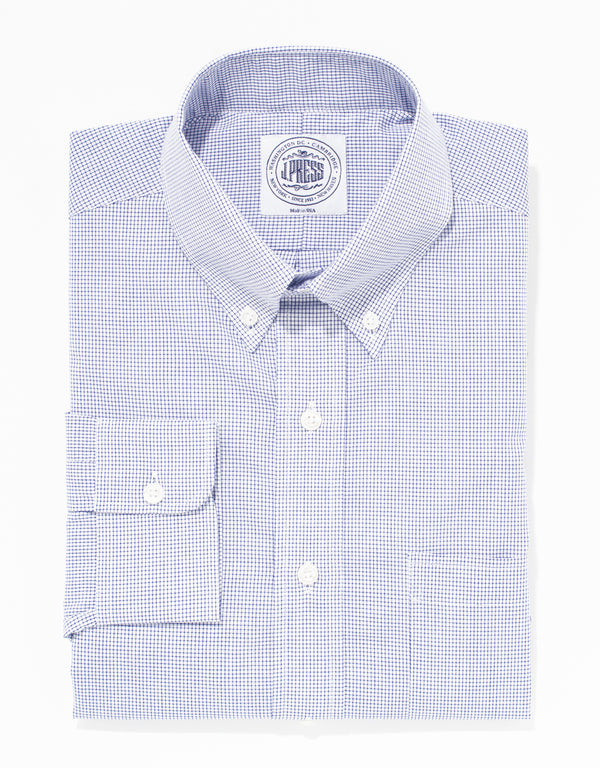 NAVY GRAPH CHECK BROADCLOTH DRESS SHIRT