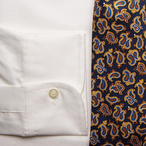 WHITE OXFORD W/ FLAP POCKET