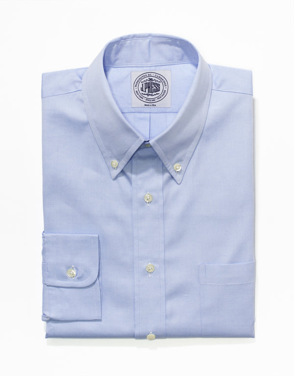 BLUE PINPOINT BUTTON DOWN SHIRT