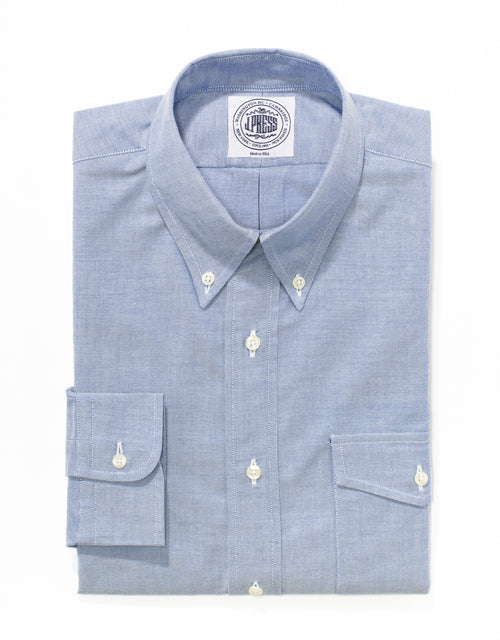 BLUE OXFORD WITH FLAP POCKET