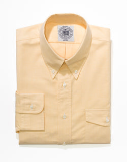 J. PRESS YELLOW OXFORD W/FLAP POCKET DRESS SHIRT