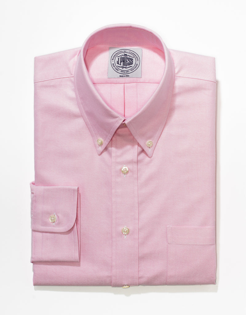 J. PRESS PINK OXFORD DRESS SHIRT