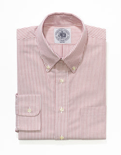 J. PRESS RED/WHITE OXFORD DRESS SHIRT