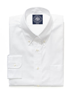 J. PRESS WHITE PINPOINT DRESS SHIRT - TRIM FIT