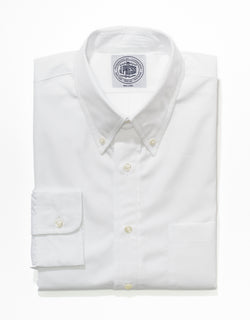 J. PRESS WHITE BROADCLOTH DRESS SHIRT