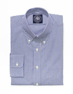 NAVY WHITE CANDY STRIPE BUTTON DOWN SHIRT- TRIM FIT