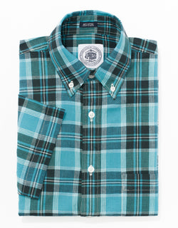 MADRAS TEAL/BLUE/GREEN/NAVY SPORT SHIRT
