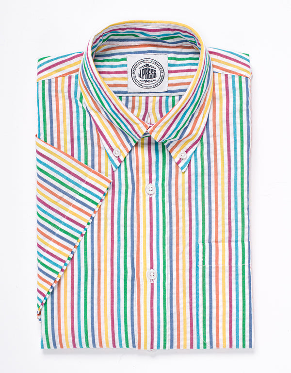SEERSUCKER SHORT SLEEVE SHIRT - MULTI