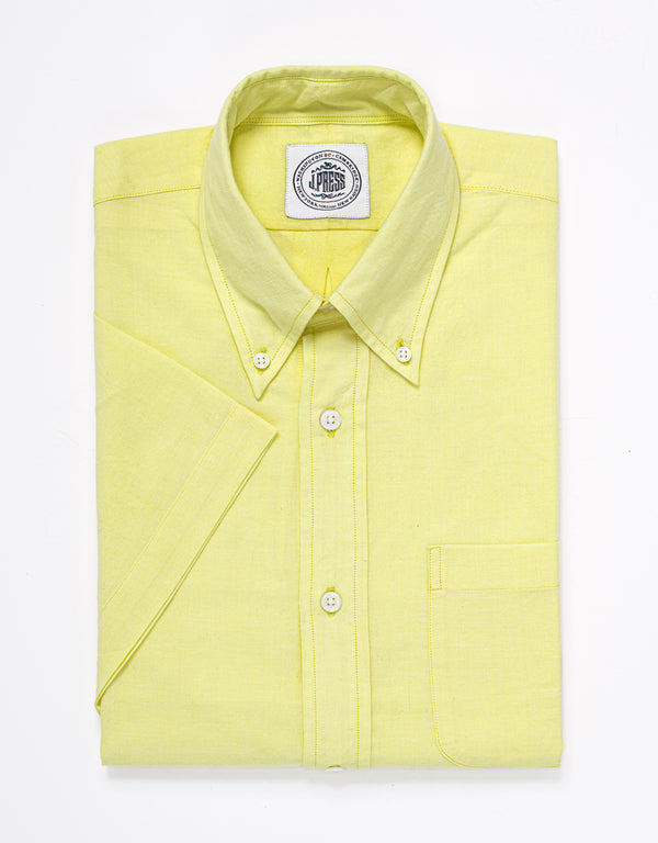 CHAMBRAY SHORT SLEEVE SHIRT - YELLOW