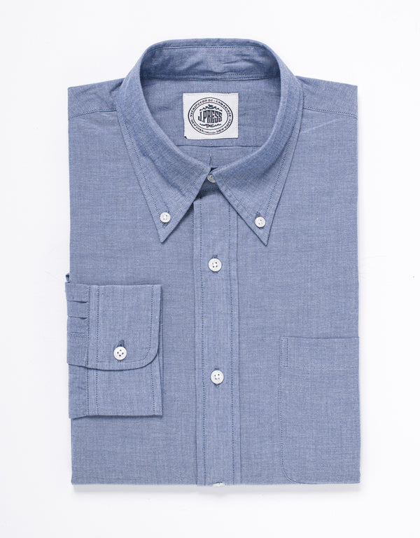 CHAMBRAY LONG SLEEVE SHIRT - BLUE