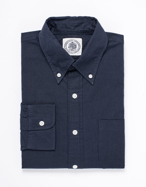 CHAMBRAY LONG SLEEVE SHIRT - NAVY
