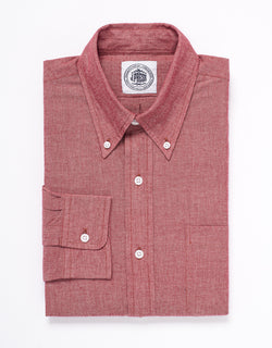 CHAMBRAY LONG SLEEVE SHIRT - RED