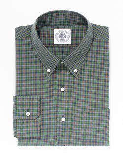 NAVY COTTON MINI TARTAN SPORT SHIRT