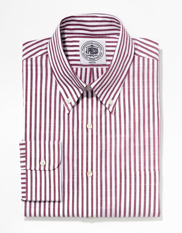 RED/WHITE STRIPE SPORT SHIRT