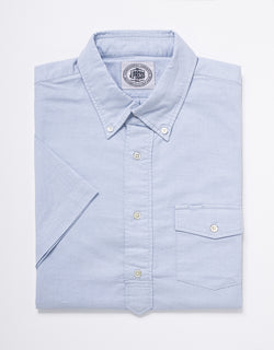 TRIM FIT OXFORD SHORT SLEEVE POPOVER - BLUE