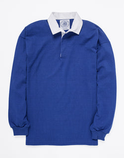 SOLID RUGBY SHIRT - BLUE