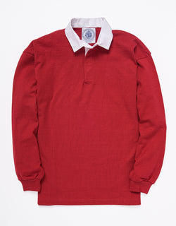 SOLID RUGBY SHIRT - RED