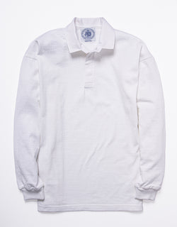SOLID RUGBY SHIRT - WHITE
