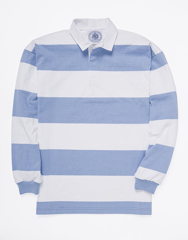 CLASSIC STRIPE RUGBY SHIRT - BLUE/WHITE