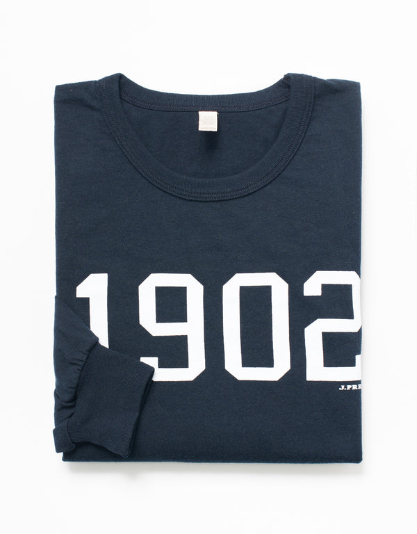 LONG SLEEVE CREW NECK 1902 T SHIRT - NAVY